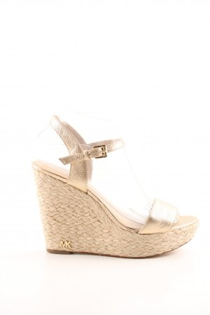 Michael Kors Wedges Sandaletten goldfarben-wollweiß Casual-Look