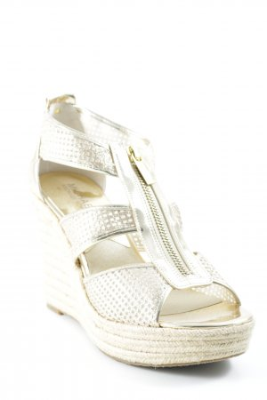 Michael Kors Wedge Sandals gold-colored casual look