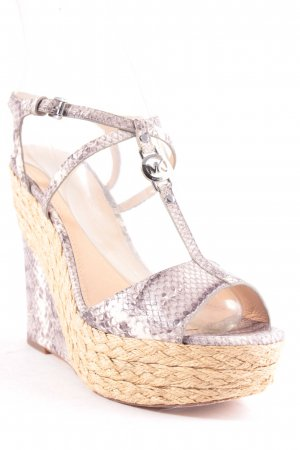 Michael Kors Wedge Sandals grey-natural white reptile print