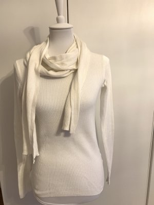 MICHAEL KORS weißes Oberteil mit abnehmbarem Schal