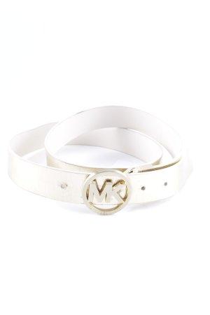 Michael Kors Reversible Belt white-gold-colored glittery
