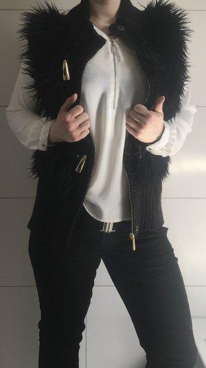 Michael Kors Smanicato di pelliccia nero-oro