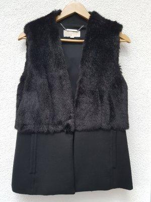 Michael Kors Smanicato di pelliccia nero Pelliccia ecologica