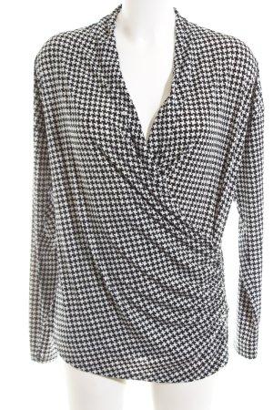 Michael Kors Wraparound Blouse white-black check pattern casual look