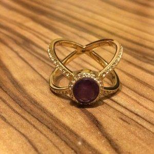 Michael Kors X-Ring mit Amethyst Größe 8