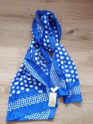 Michael Kors Silk Scarf blue-white