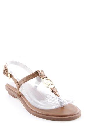 Michael Kors High-Heeled Toe-Post Sandals light brown elegant