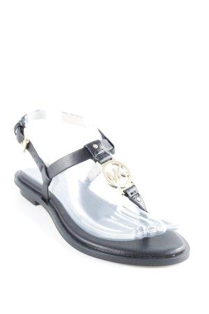 Michael Kors Zehen-Sandaletten schwarz Elegant