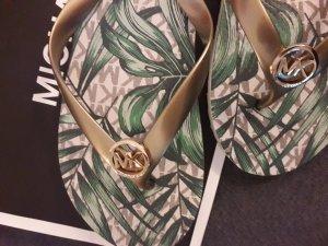 Michael Kors High-Heeled Toe-Post Sandals multicolored