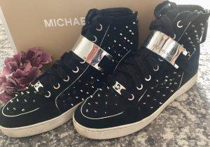 Michael Kors High Top Sneaker black-silver-colored