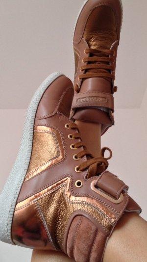 Michalsky Designer Sneaker bronze metallic 38 rosegold luxus