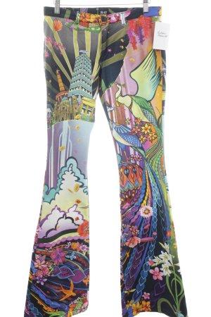 Michalsky Jeans Berlin Schlaghose abstraktes Muster extravaganter Stil