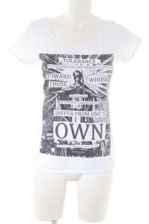 Michalsky T-Shirt weiß-dunkelgrau Motivdruck Casual-Look