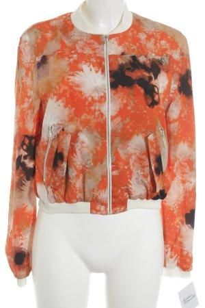 Michalsky Übergangsjacke creme-orange Blumenmuster sportlicher Stil