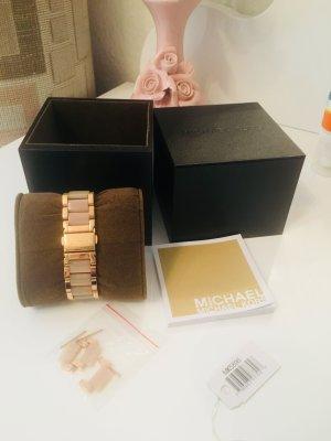 Michael Sander Reloj con pulsera metálica rosa