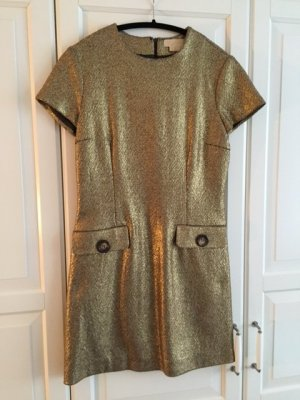 MICHEAL KORS -GOLD GLITTER SHORT DRESS