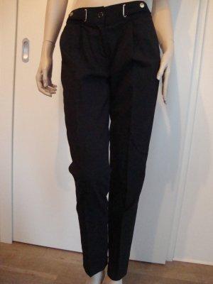 Micheal Kors Hose Bundfaltenhose 100% Original schwarz Gr. 34 Gr.0 1x getragen WIE NEU