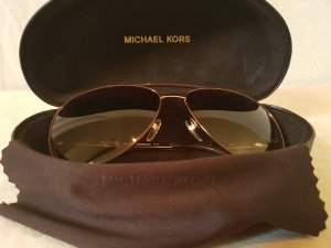 Michael Kors Aviator Glasses gold-colored-brown synthetic material