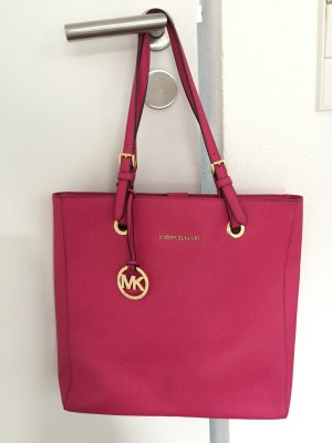 Michael Kors Carry Bag raspberry-red-gold-colored leather