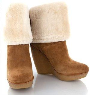 Micheal Kors Wedge Boots Lammfell/ nur 1x getragen