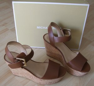 Michael Kors Wedge Sandals brown leather