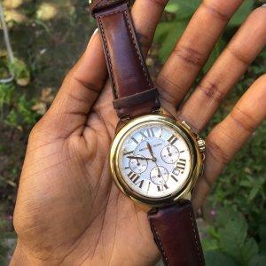 Michel Kors MK Armbanduhr braunes Leder Original!