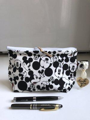 Mickey Maus Disney Tasche Baby Jersey Schwarz Weiß Kosmetiktasche Schminktasche