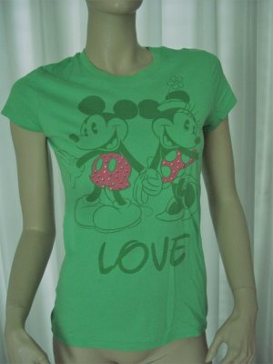 Mickey Mosue Shirt Grün Gr 38        ORGINAL  DISNEY