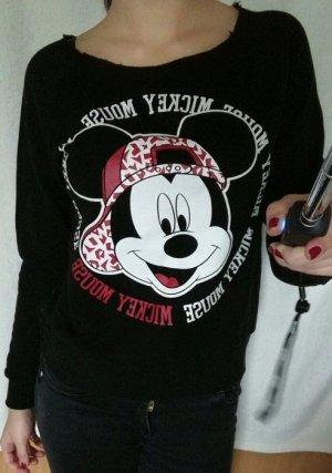 Mickey Mouse Sweatshirt schwarz, weiß rot