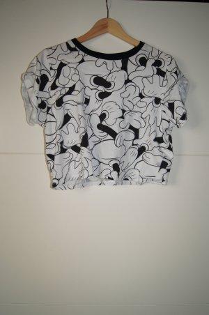 Micky-Maus-T-Shirt, Ink-Paint von Disney, Croptop, Cropshirt