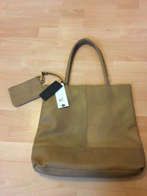 Micmacbags Tasche Shopper braun Cognac beige DIN A4 neu Etikett