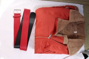 Manteau de fourrure multicolore coton