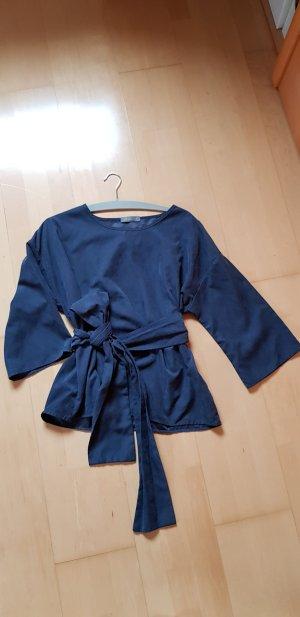 MALU Chemisier kimono bleu foncé