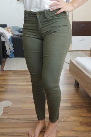 Mid Waist Jeans khaki