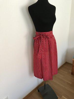Midi, 69 cm rote Dirndlschürze neu aus Baumwolle