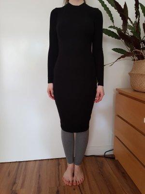 Forever 21 Vestido de tubo negro rayón