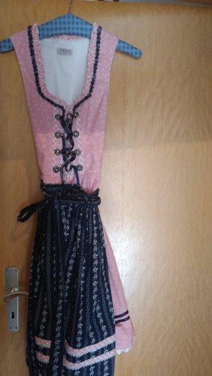 Midi Dirndl in rosa/blau