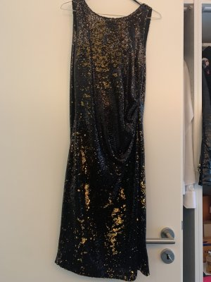Zara Sequin Dress black-gold-colored