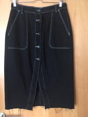 Bershka Fringed Skirt black