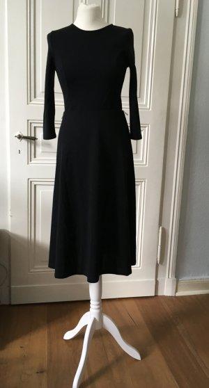 Midi Jerseykleid von Asos, schwarz