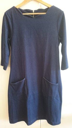 Midi, Jerseykleid von FEVER London, Jeansoptik, 42