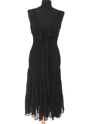 Midi Kleid aus Chiffon mit Schleife von Review, Gr. 36