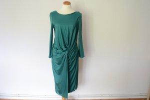 Midi Kleid in emerald grün mit langen Armen