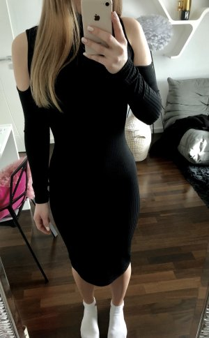 Midi Kleid mit Schulter Cut-Outs