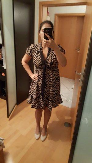 Mela London Midi Dress bronze-colored-black