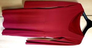 Midi-jurk baksteenrood-rood