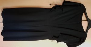 Midi-Kleid schwarz - Ärmel mit Rüschen