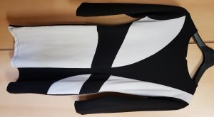 Midi-Kleid Schwarz-Weiß