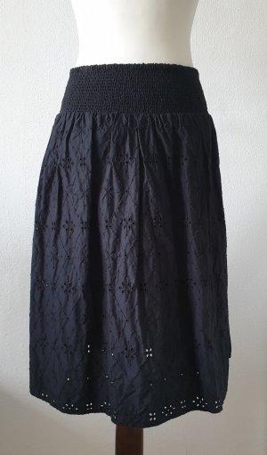 Yessica Falda midi negro Algodón