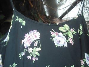 Robe trapèze noir viscose